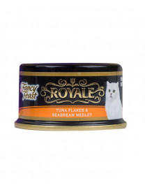 FANCY FEAST ROYALE TUNA FLAKES & SEA BREAM MEDLEY 85G..